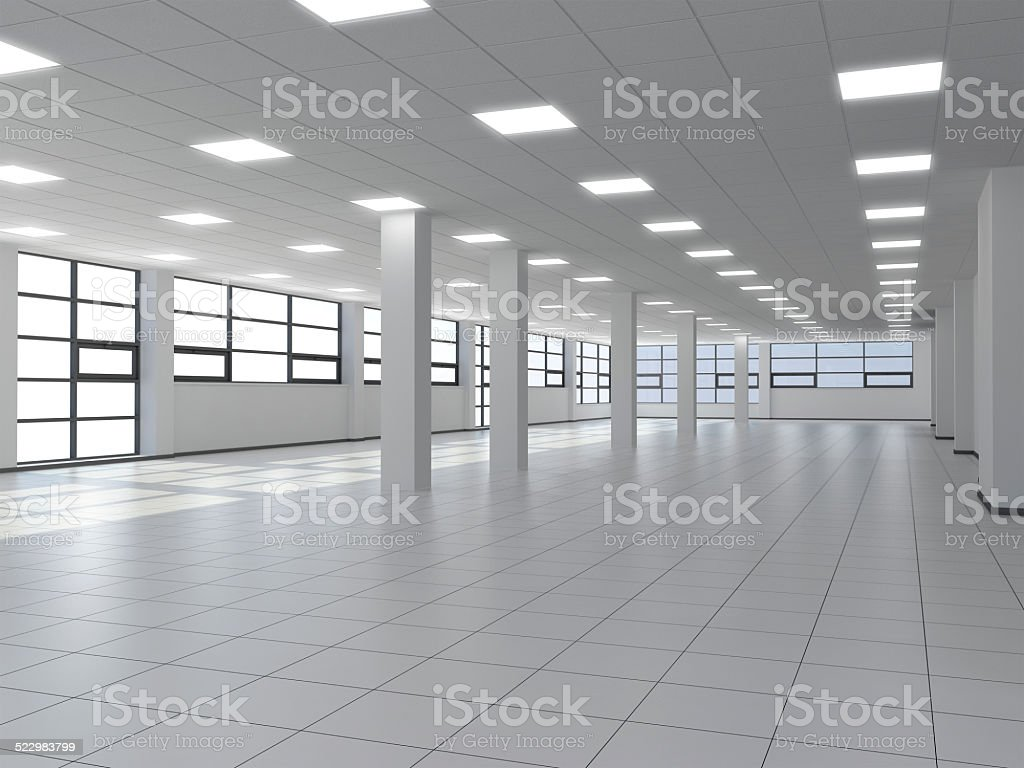 Large empty room stock photo