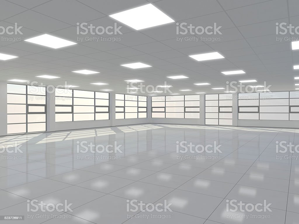 Large empty room stock photo
