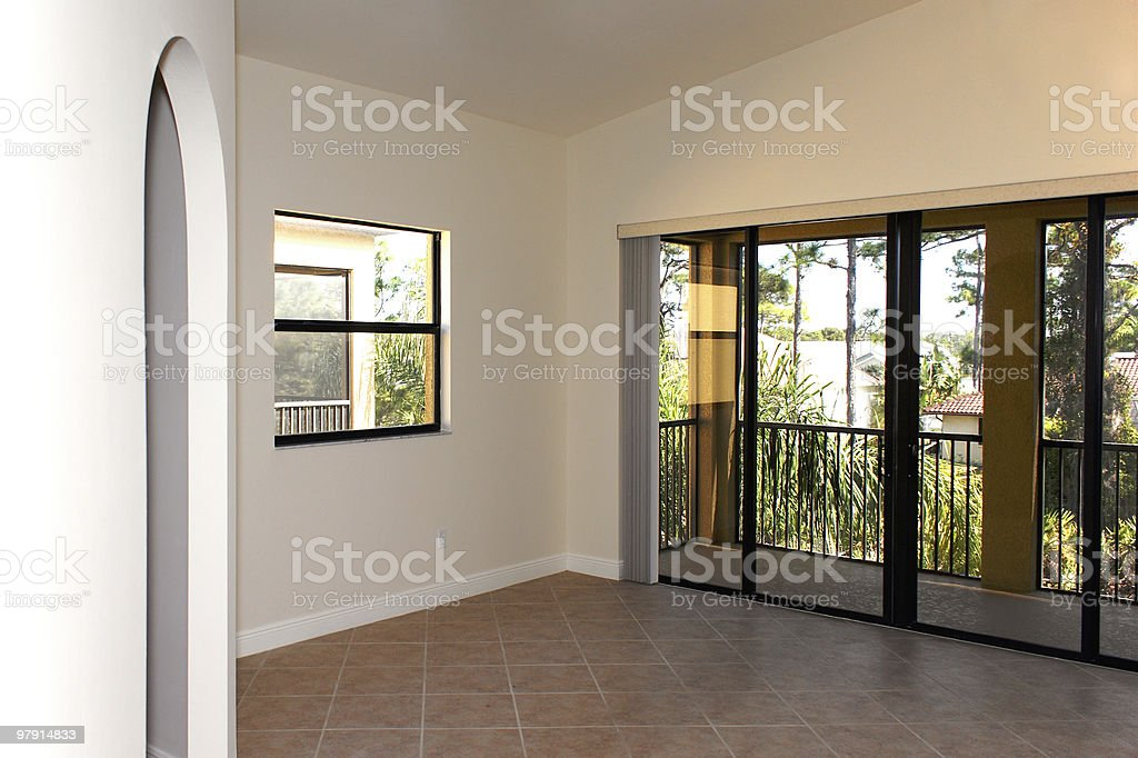 large empty room royalty-free stock photo