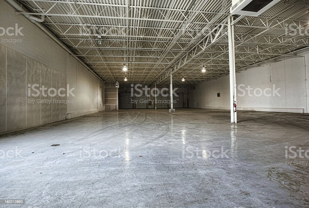 Large Empty Warehouse royalty-free stock photo
