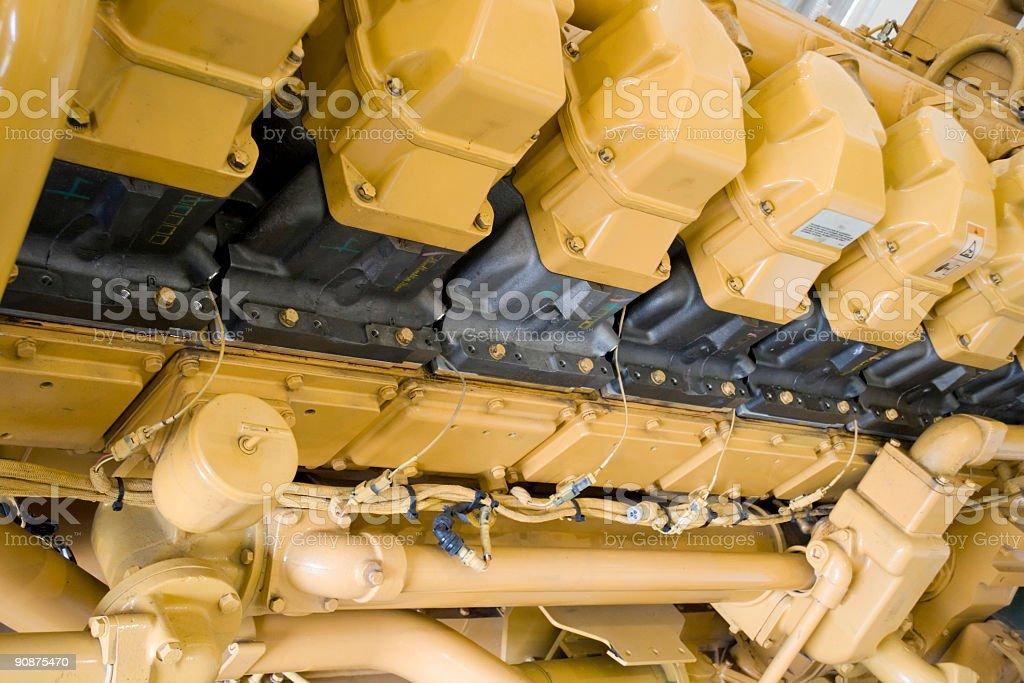 Large engine royalty-free stock photo
