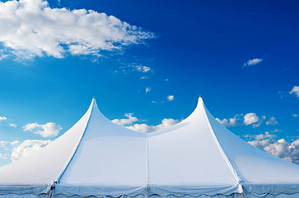 Large event tent Large event tent with clipping path.  tent stock pictures, royalty-free photos & images