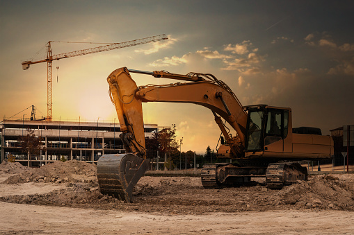 Heavy machinery for the construction