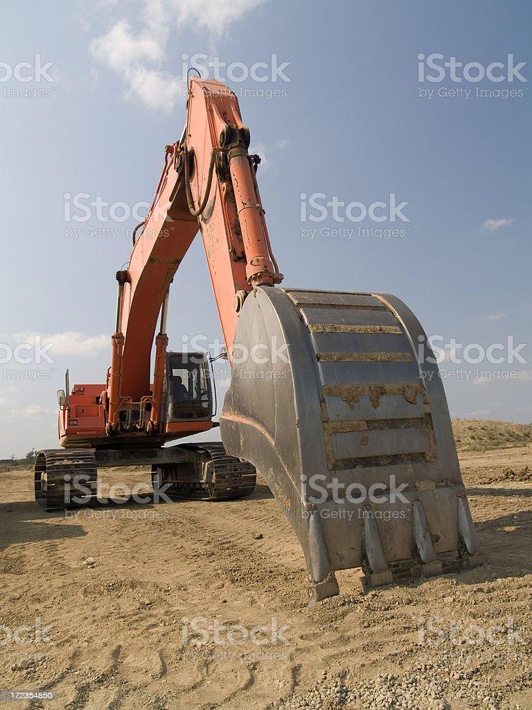 Amplio Excavator cuchara foto de stock libre de derechos