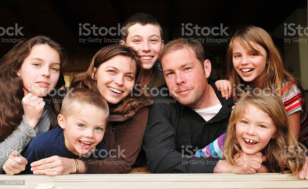 Large Family royalty-free stock photo