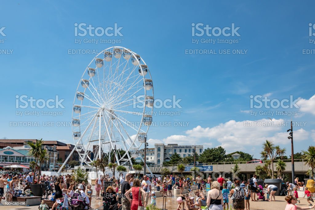 Large ferris wheel at the seafront in Bournemouth, UK stock photo