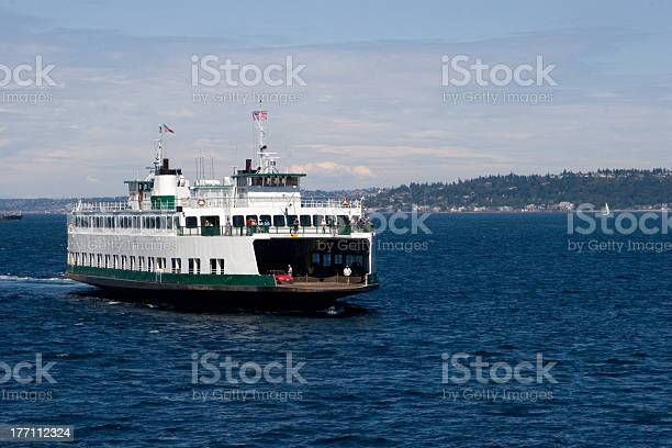 A Large Ferry Boat Sailing In A Lake Stock Photo - Download Image Now