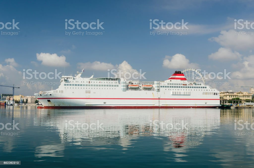 Large ferry ship stock photo