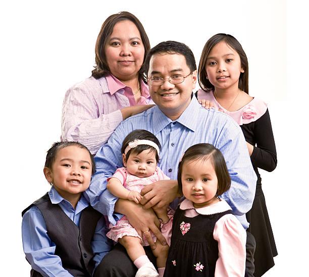 large filipino family stock photo