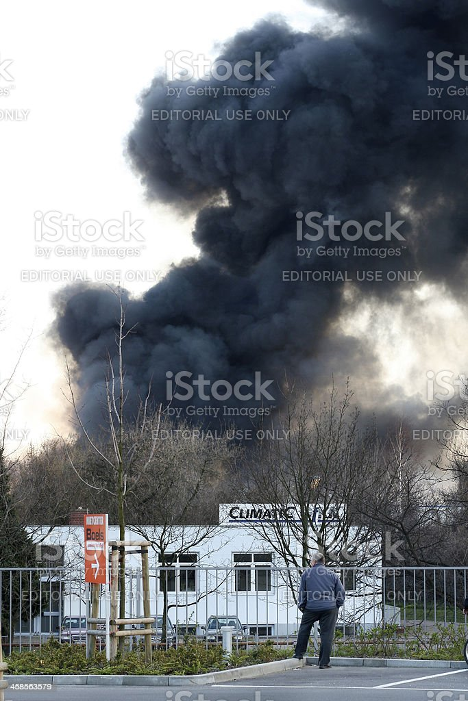 Large fire royalty-free stock photo