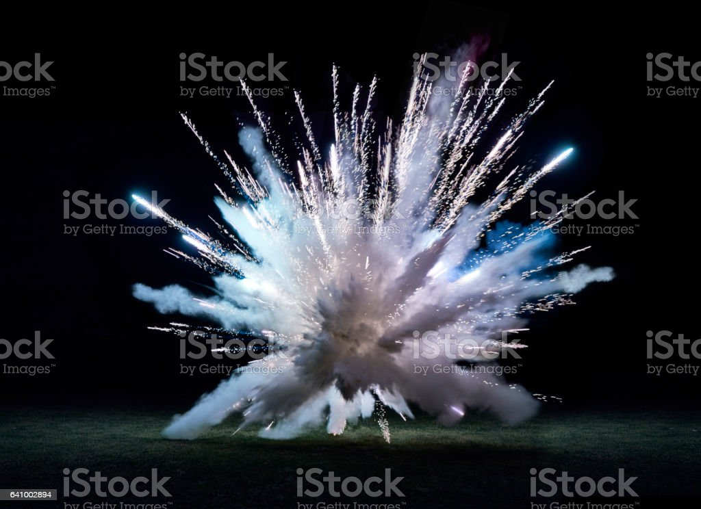 Large firework explosion stock photo