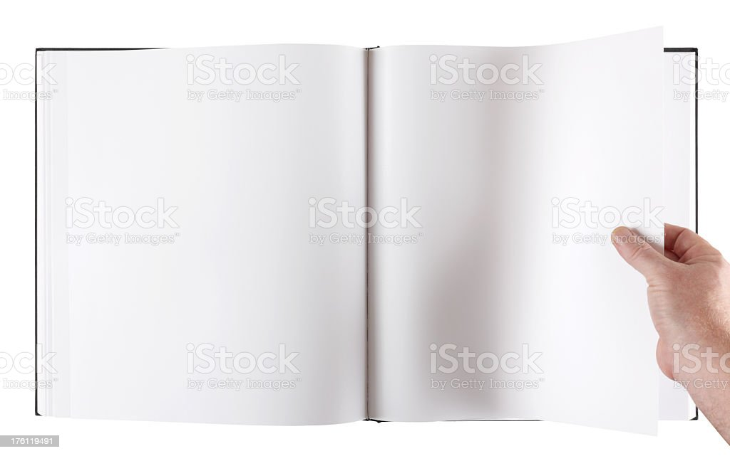 Large format blank coffee table book with clipping path. royalty-free stock photo