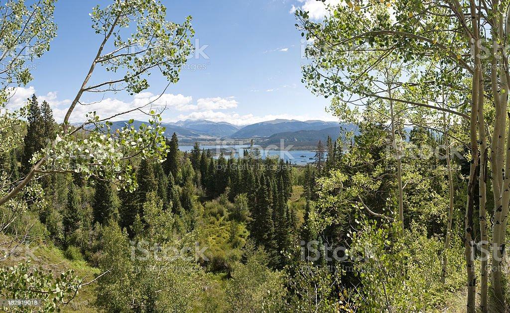 Large Format Image of Mountain Lake in Colorado stock photo