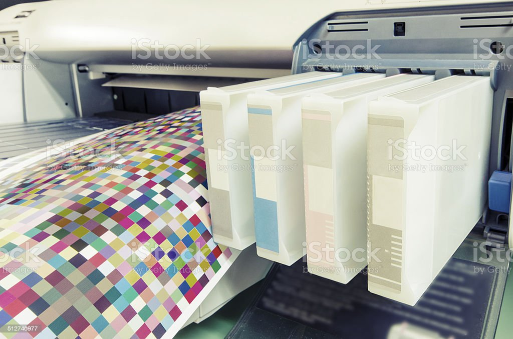 large format ink jet printer cartridge, vintage stock photo
