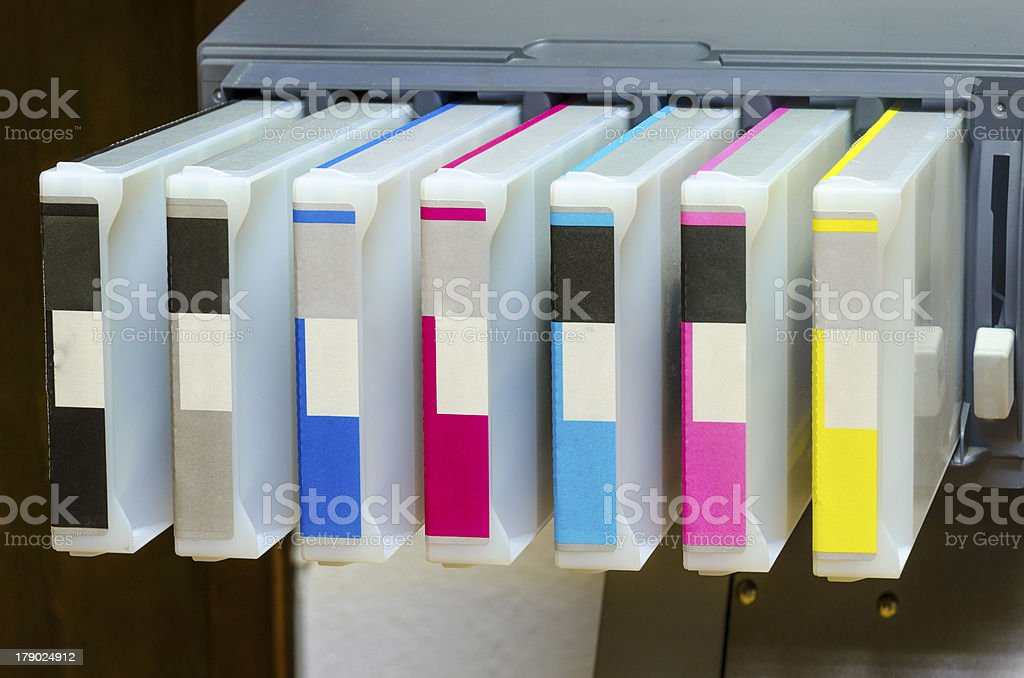 large format ink jet printer tonner stock photo