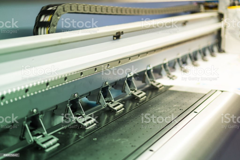 Large Format Inkjet Printer stock photo