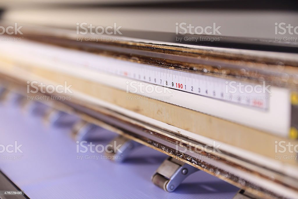 Large format outdoor ink jet printer royalty-free stock photo