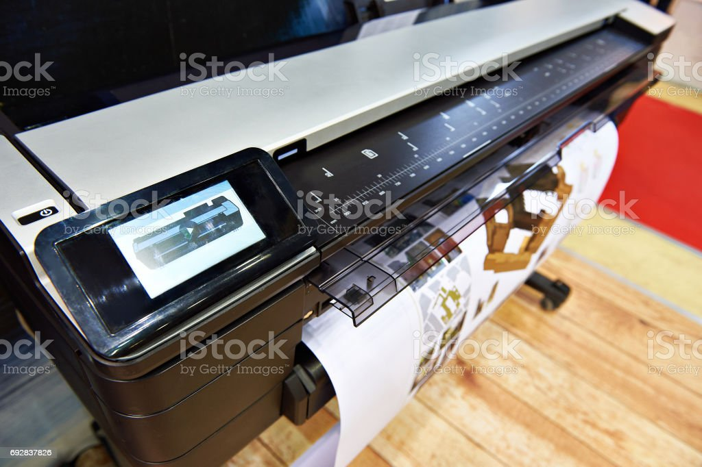 Large format printing stock photo