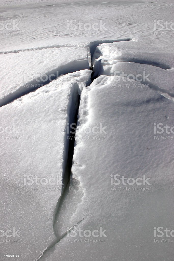 Large Fracture stock photo