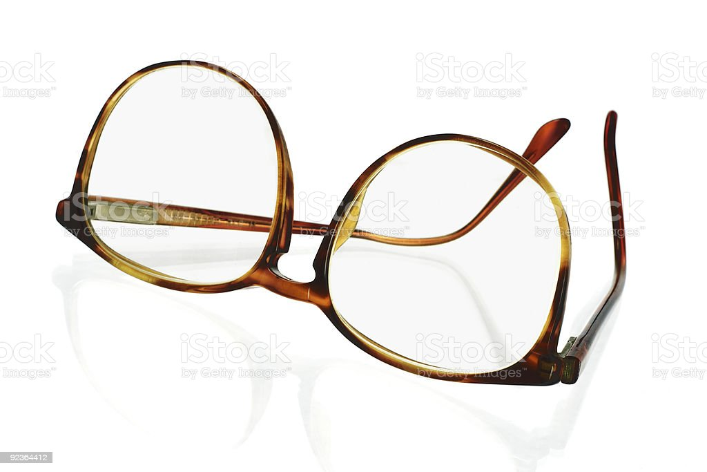Large frame plastic spectacles royalty-free stock photo