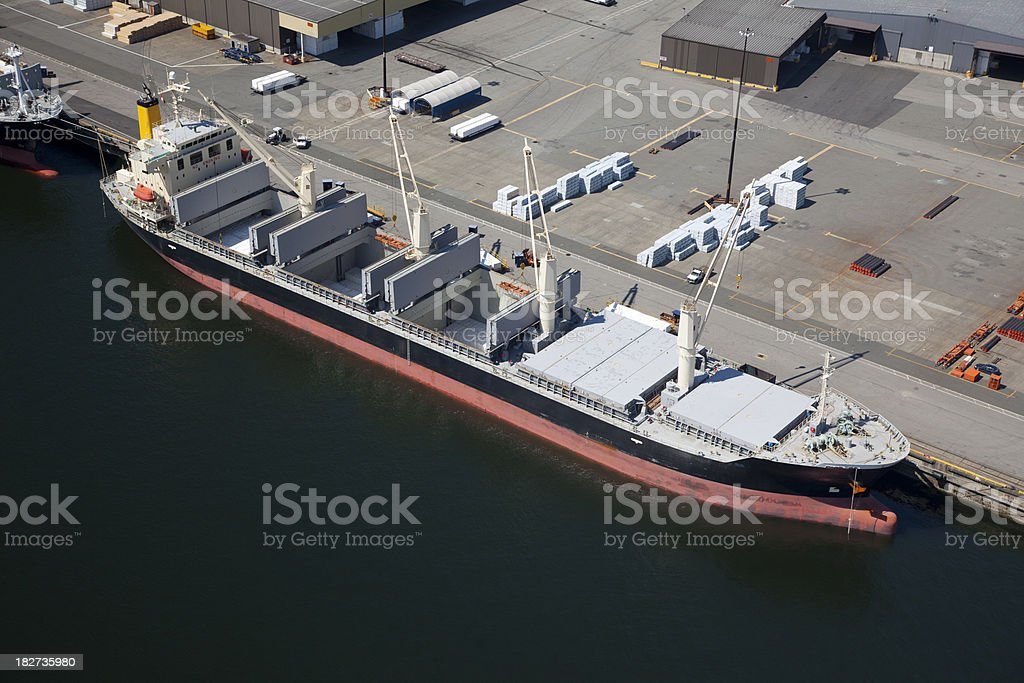 Large Freight Carrying Cargo Ship royalty-free stock photo