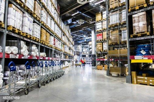 istock Large furniture warehouse 452547489