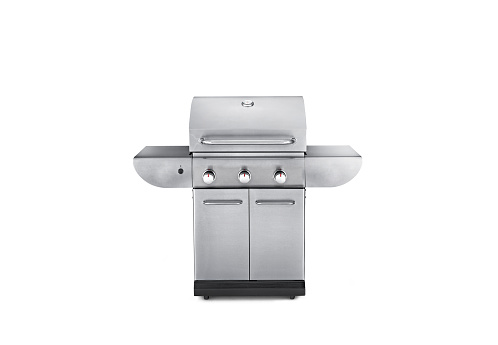 Large gas bbq grill on a white background