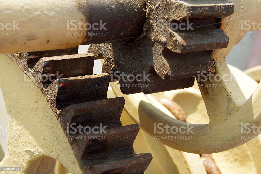 Large gear on the ship. royalty-free stock photo