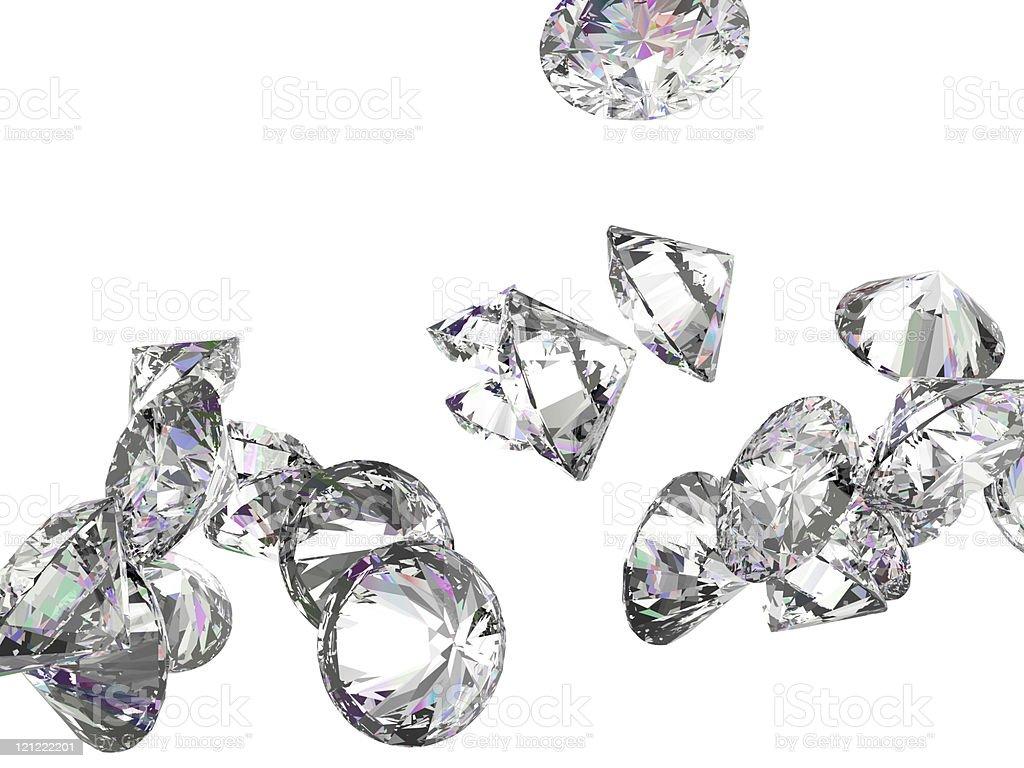 Large gemstones isolated on white stock photo