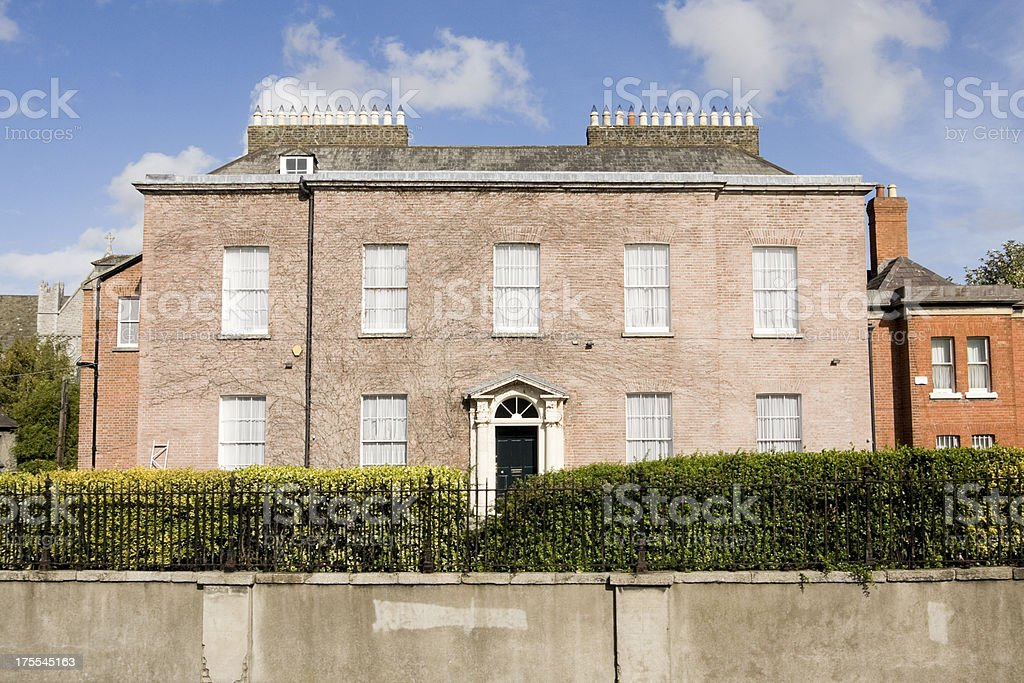 Large georgian style house in Dublin stock photo