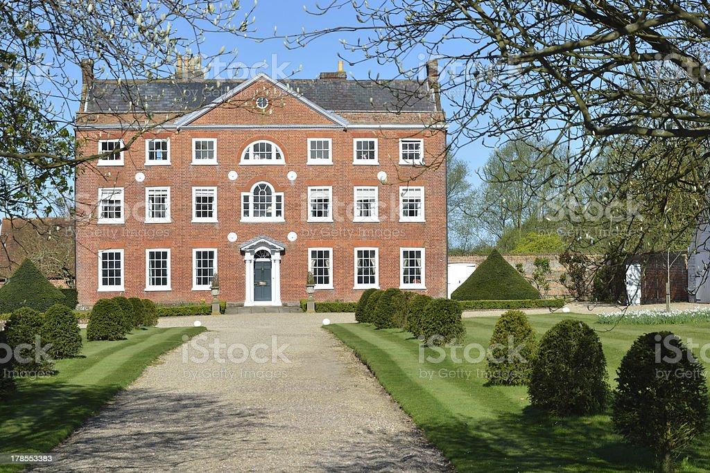 Large Georgian Town House royalty-free stock photo