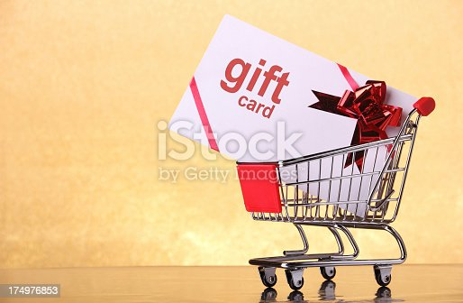 Gift card in a shopping cart. Some other related images: