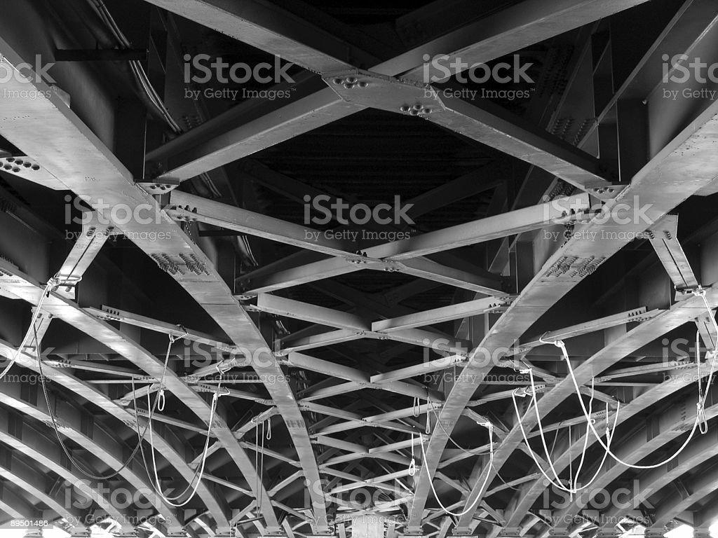 Large Girder Bridge royalty-free stock photo