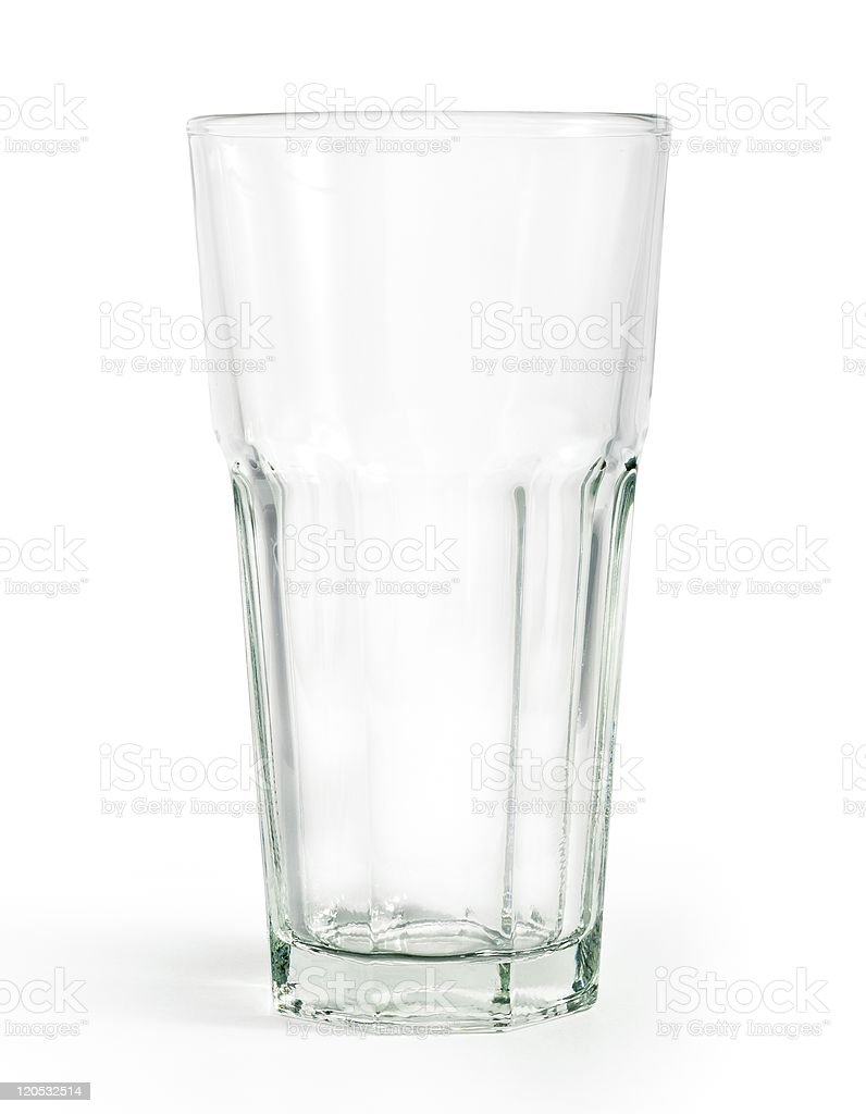 large glass isolated on white with clipping path stock photo