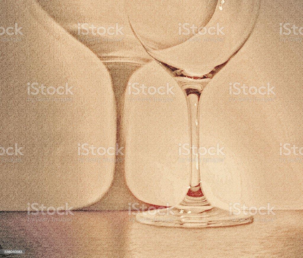 large glass of wine on dark background stock photo