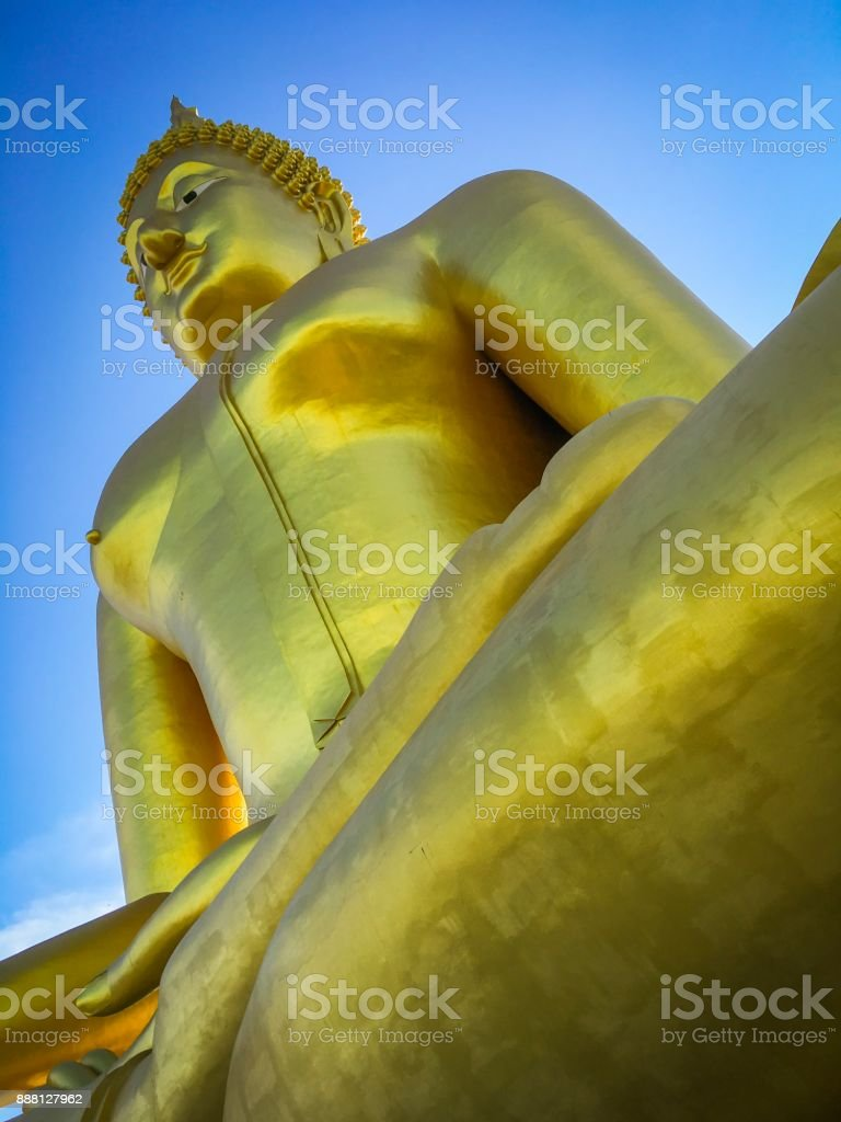 Large Golden Buddha, Thailand royalty-free stock photo