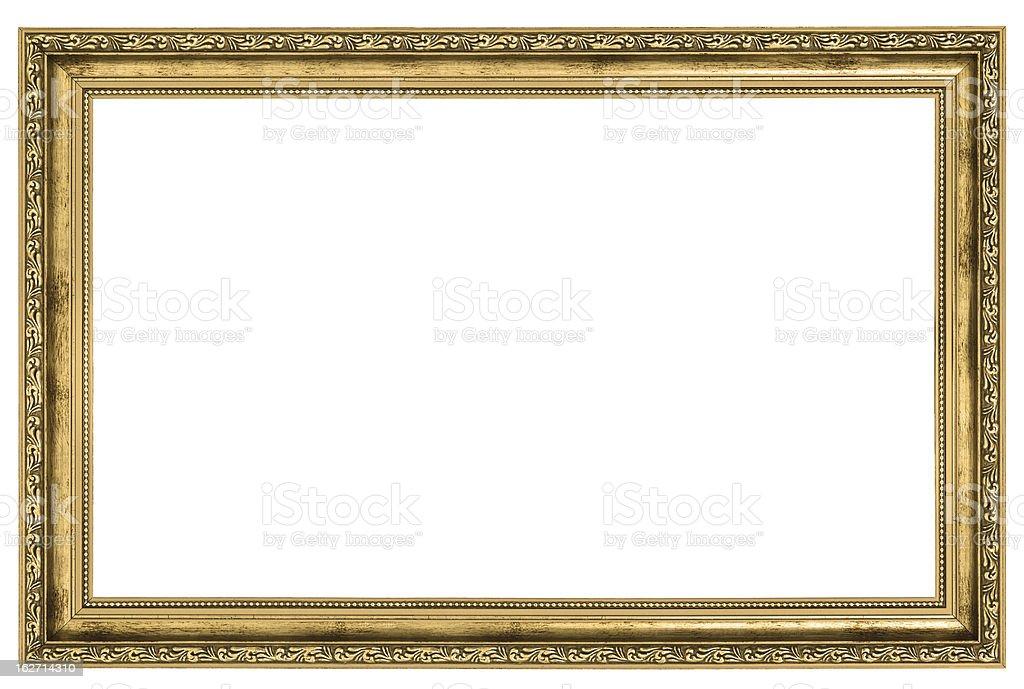 large golden frame - 免版稅剪裁圖圖庫照片