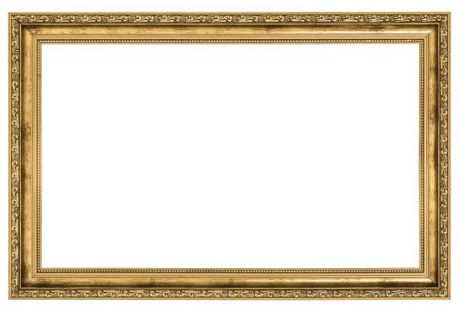 Large Golden Frame 照片檔及更多 剪裁圖 照片