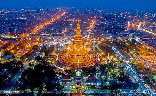 Large golden pagoda Thailand