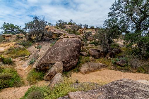 Grote Granieten Keien Op Betoverde Rock Texas Stockfoto en meer beelden van Berg