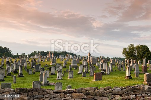 istock Large Graveyard in the Country 911229094