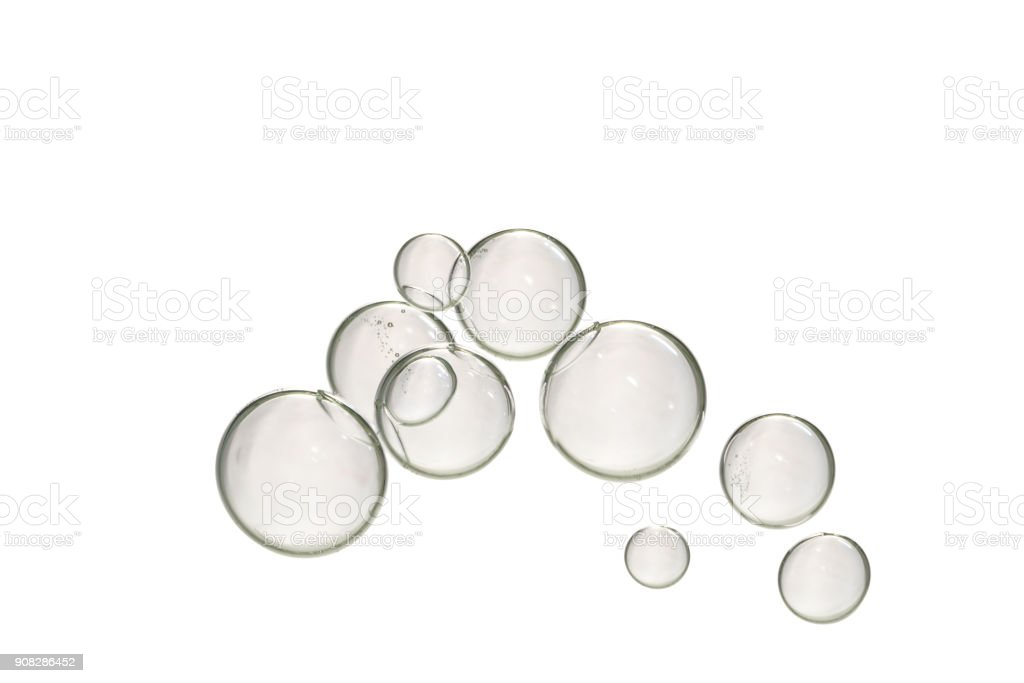 Large gray bubbles over white stock photo