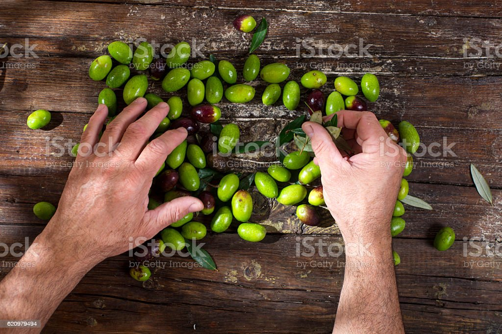 Large green olives foto royalty-free