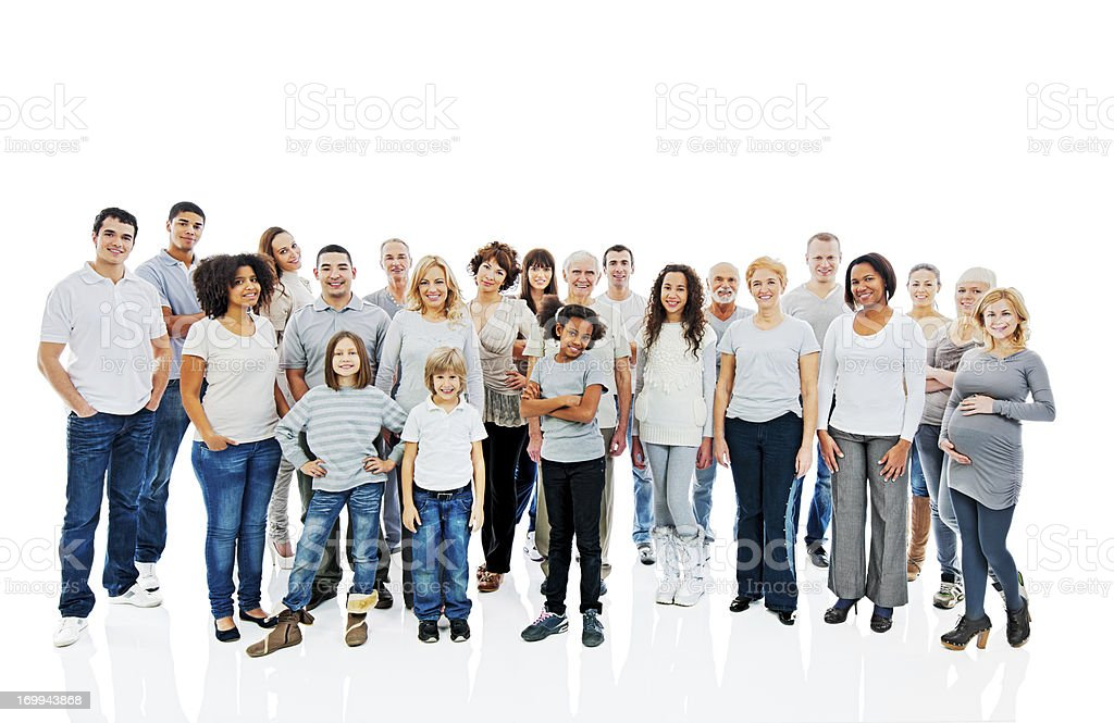 Large group of a happy people. royalty-free stock photo