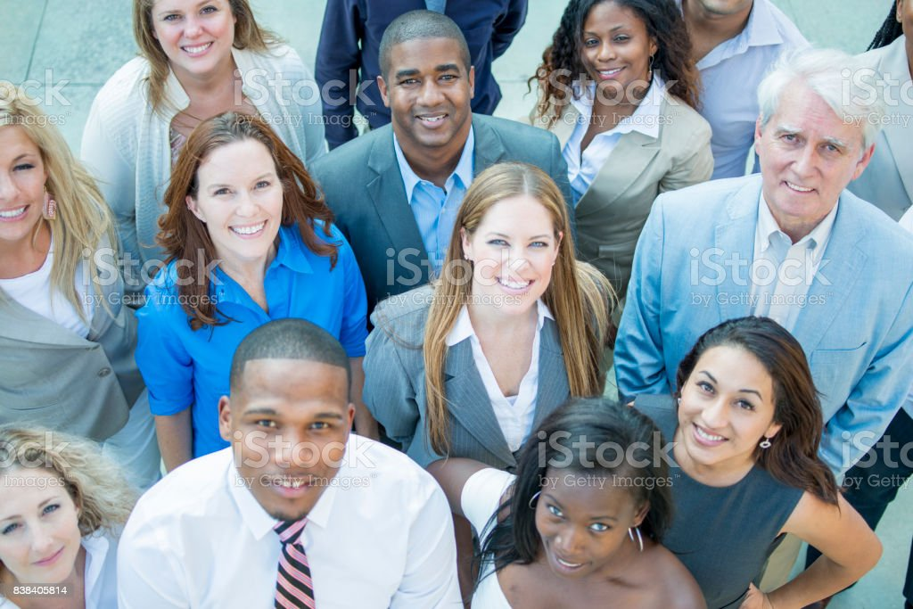 Large Group Of Adults stock photo