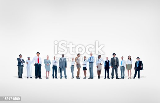 istock Large group of Business people 187174589