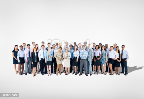 istock Large group of Business team 463227481