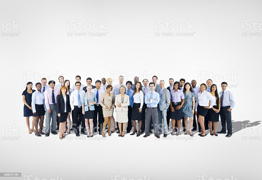 Large group of Business team stock photo