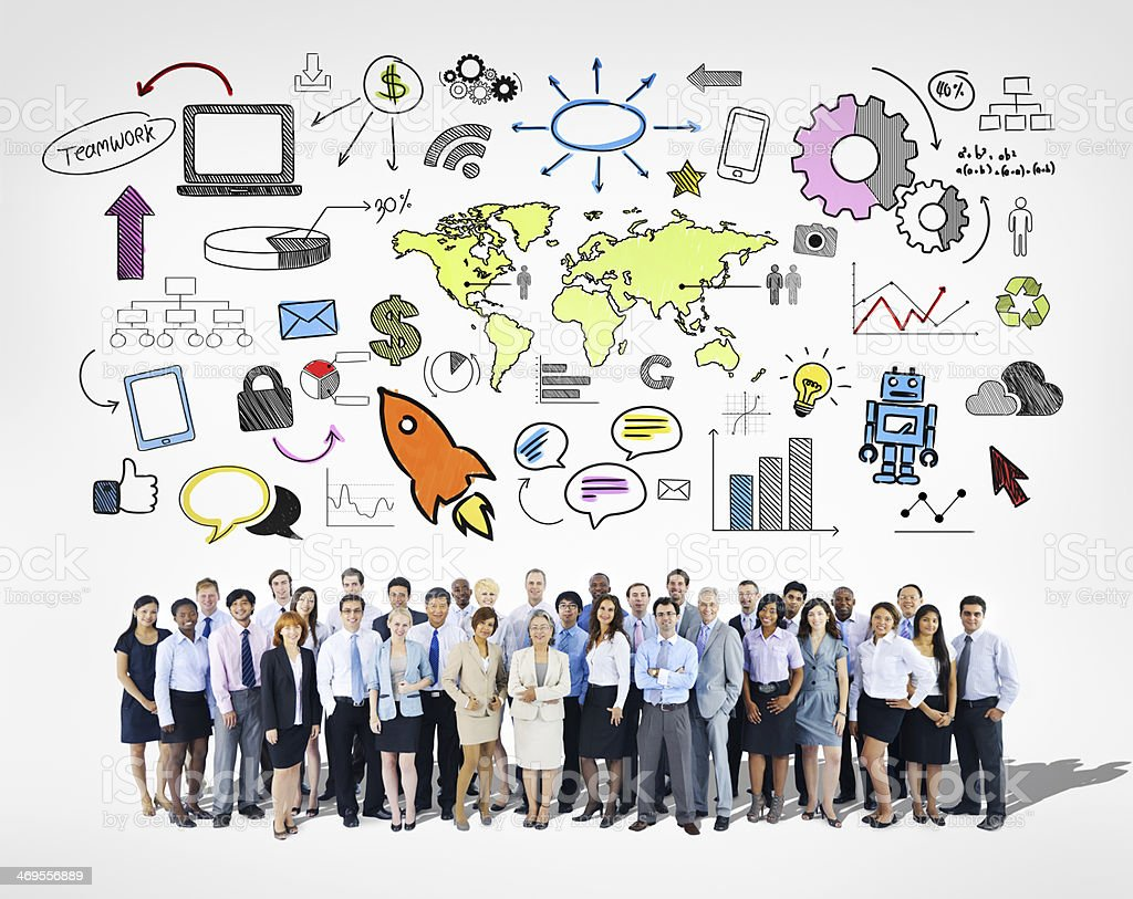 Large Group of Business Team royalty-free stock photo