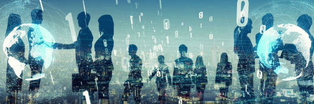 비지니스의 큰 그룹입니다. 비즈니스 및 기술 개념입니다. - 출현 개념 뉴스 사진 이미지